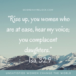 complacent women, holy spirit mother